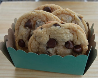 Get by Valentine's Day!!  Double Chocolate Chip Cookies //  Chewy //  2 Dozen