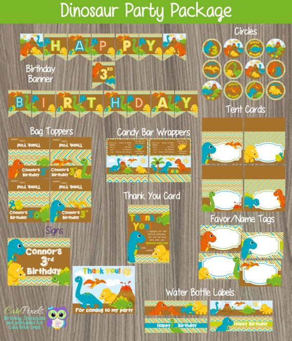Dinosaur party package dinosaur birthday dinosaur party for Dinosaur mural kit