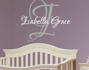 Personalized, Name, Initial, Girl, Child, Baby, Nursery, Bedroom, Home, Decor, Family, Teenage, Script