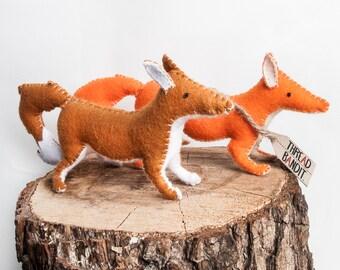 Handmade felt fox