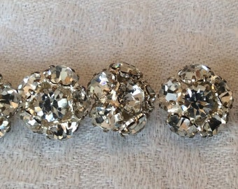 "Rhinestone buttons. 7,   1/2"" shank buttons"