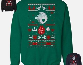 Star Wars Sweater Ugly Valentines Day 2017 Death Star Fans Darth Vader Star Trooper Yoda Leia luke skywalker obi wan kenobi Gift Present