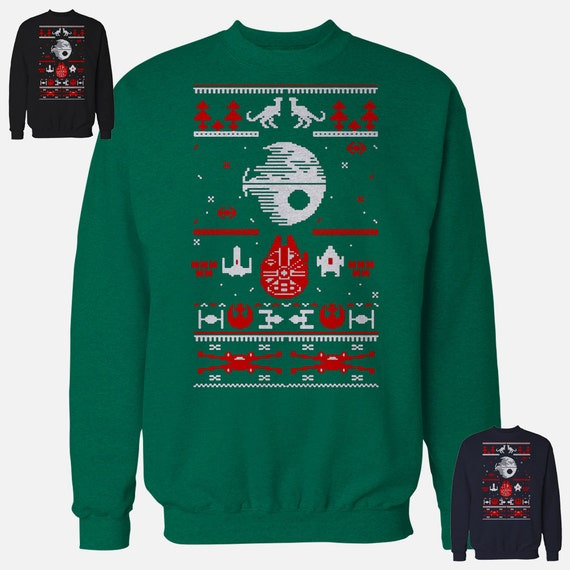 Ugly Christmas Sweater Star Wars 2017 Death Star Fans Darth