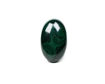 58.7 cts Natural Malachite Cabochon - Wholesale Gemstone Cabochon, Oval Cabochon, Green Stone Cabochon 32x20x7mm
