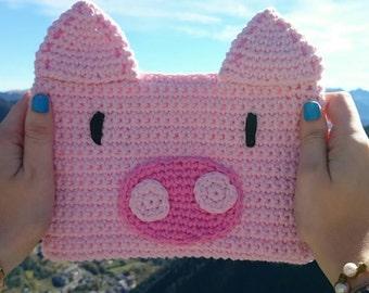 Pig Clutch // Original animal clutch of crochet