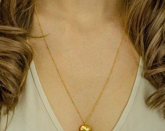 Heart layering necklace - gold heart necklace - layered necklace - silver heart necklace - long heart necklace, heart jewelry, love necklace