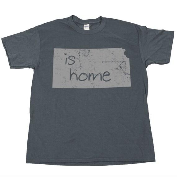 Kansas is home state t shirt tee pride native born by for T shirt printing wichita ks