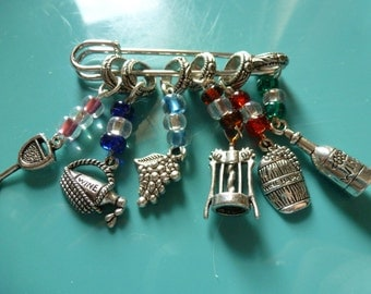 Wine Lover Stitch Markers