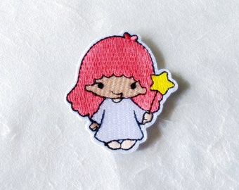 Lala Sanrio Cartoon Character Iron on Patch(M2), Sanrio Cartoon Applique Embroidered Iron on Patch Size 5.5x6.0 cm