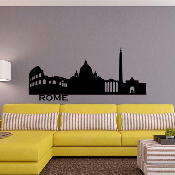 Roma skyline wall decal città sagoma italia roma di fabwalldecals