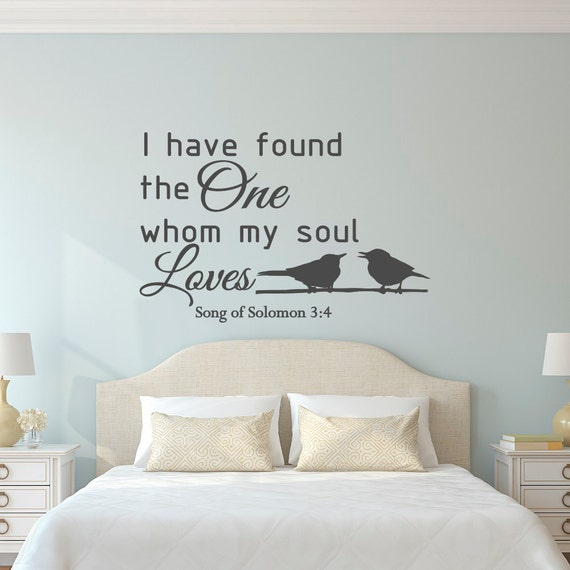 Love Wall Decal Quote Song Of Solomon 34 Bible Verse