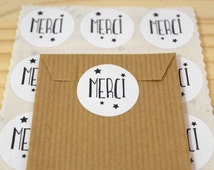 Lot of 48 labels self-adhesive gifts, stickers, thank you