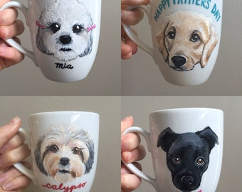 Custom Dog Mug - Personalized Ceramic Mug with YOUR Dog's Face!