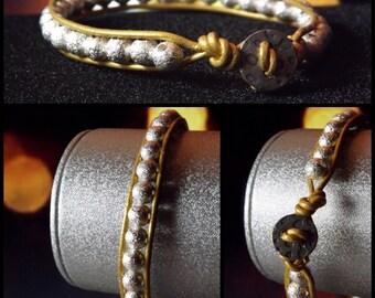 Silver Glitter Beaded Bracelet