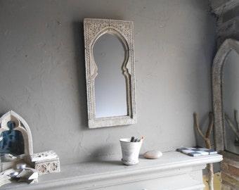 MORROCCAN or Moorish vintage mirror ,rustic stone effect