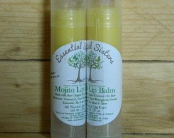 Lip balm - Chapstick - Natural Lip Care - Mojito Lip Balm - single .15 oz chapstick - lip gloss - Refreshing Lime Mint Lip Care