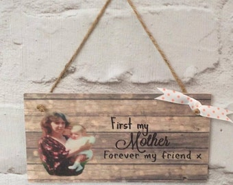 Vintage Photo , wooden Handmade Plaque for Grandparent's/Mother's Day