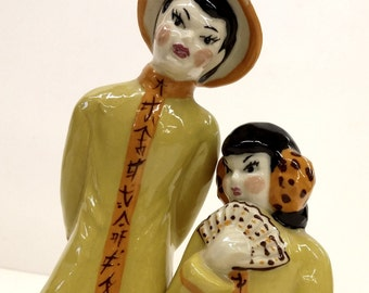 MCM Pair of Porcelain Chinese Traditional Figures