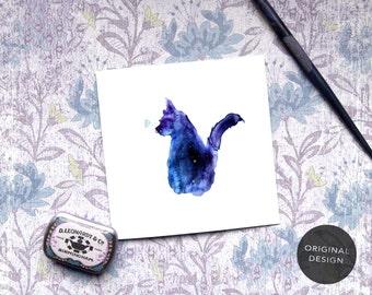 Cat Card, Cat Sympathy Card, From Cat, Cat Birthday Card, Kitten Card, New Cat Card, Custom Wording, Personalised Cat Card, Cat Thank you