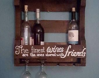 Hand Painted Wine Rack