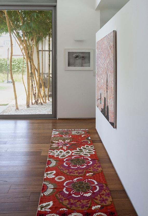 Red Foyer Rug : Hallway rugs rug runner red area rugsfloral
