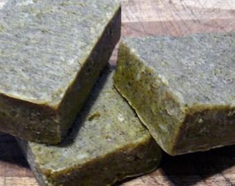 Shampoo Bar. Goat milk handmade artisan castile soap bars milled with Castor, Avocado & E oils. Dandelion, Juniper berry, Chamomile.