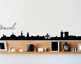 Brussels Belgium City Skyline Wall Decal
