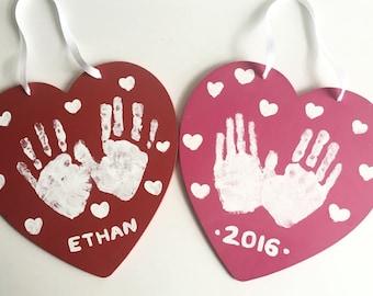 Valentines Day Hand print - Family/Kids Craft - Kids Craft - DIY Kit - Create your own - Hand print craft - Hand-print Valentine - Heart