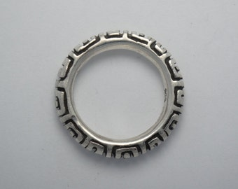 Circle ring sterling silver