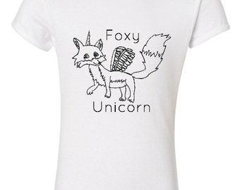 Foxy Unicorn Girls T-Shirt