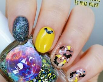 Bat Signal by NOVA polish - Batman Polish, Bat Glitter Nail Polish, Batman Cosplay, Cosplayer, Birthday Gift Idea, Indie Polish, Marvel