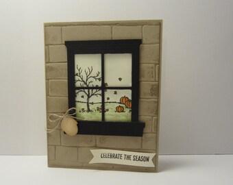 Fall Window Frame
