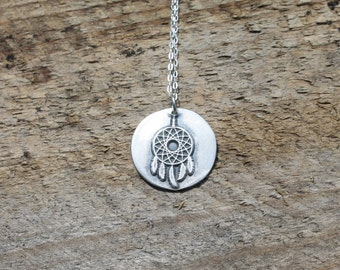 Dreamcatcher wax seal pendant