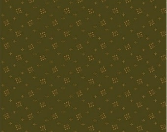 1 YD - Kindred Spirits Fabric (Green Dancing Boxes) by Windham Fabrics