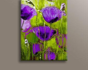 Purple Wall Decor purple art   etsy