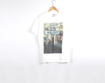 HAIGHT ASHBURY SHIRT // 1995 // Medium // Haight Ashbury // San Francisco Shirt // Haight Ashbury Shirt // Hippy Shirt / San Francisco Shirt