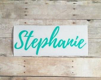 Vinyl Name Decal | Personalized Name Sticker | Name Sticker | Custom Decal | Name Label | Laptop Name Decal | Phone Name Sticker