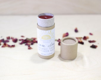 Tinted Lip Balm + Cheek Stain | | Gifts for Her | Organic Lip Balm | Lip Stain | Organic Makeup | Organic Lip Stain | Gifts for Mom
