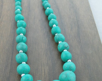 Turquoise Necklace, Turquoise Gemstone, Bubble Necklace, Bold Jewelry, Necklace Statement