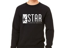 STAR Laboratories Flash: The TV Series S.T.A.R. Labs Crew Neck Unisex Sweatshirt Pullover Gift Present