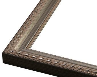 "Antique Silver Scoop Picture Frame. 1"" 3x5,4x6,5x7,6x8,8x10,9x12,11x14,12x16,14x18,16x20,18x24,20x24"