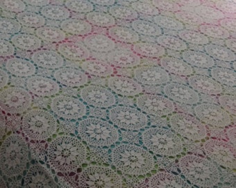 French bed covers traditional handmade crochet cotton