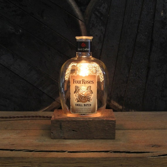 Four Roses Small Batch Bottle Lamp Gift For Guys, Bourbon Gift, Gift For Boss, Gift For Men, Guy Gift, Valentine's For Him, Man Cave Gift