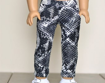 Pants snake skin like 18 inch doll clothes American made doll clothes