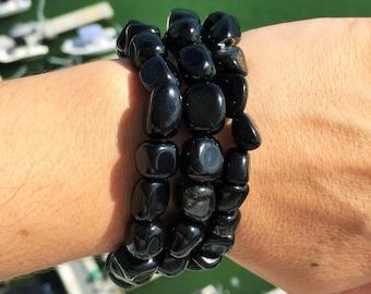 Black Obsidian Bracelet-Protection Amulet Stones-Amulet Jewelry