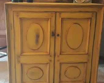 SOLD********  Distressed Armoire, Painted Armoire, Painted Hutch, Painted Cabinet, China Hutch,  Painted Furniture, Custom painted Furniture