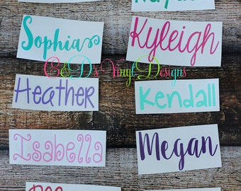 Personalized Name Decal - Custom Name Decal - Any Word Decal - Custom Decal - School Decal - Name Decal - Word Decal - Vinyl Decal - Preppy