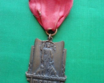 1930's Art Deco MSPCA Medal Boston