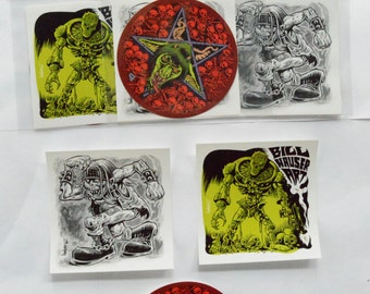 Bill Hauser Art Sticker Pack - 3 sticker set
