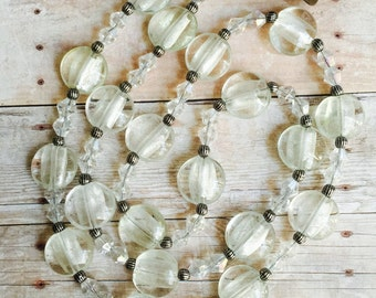 white clear necklace ready for mothe's day
